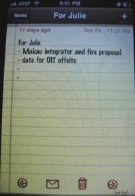 Notes forJulie