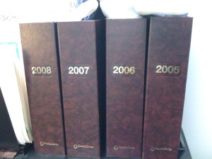 Annual Journal Binders