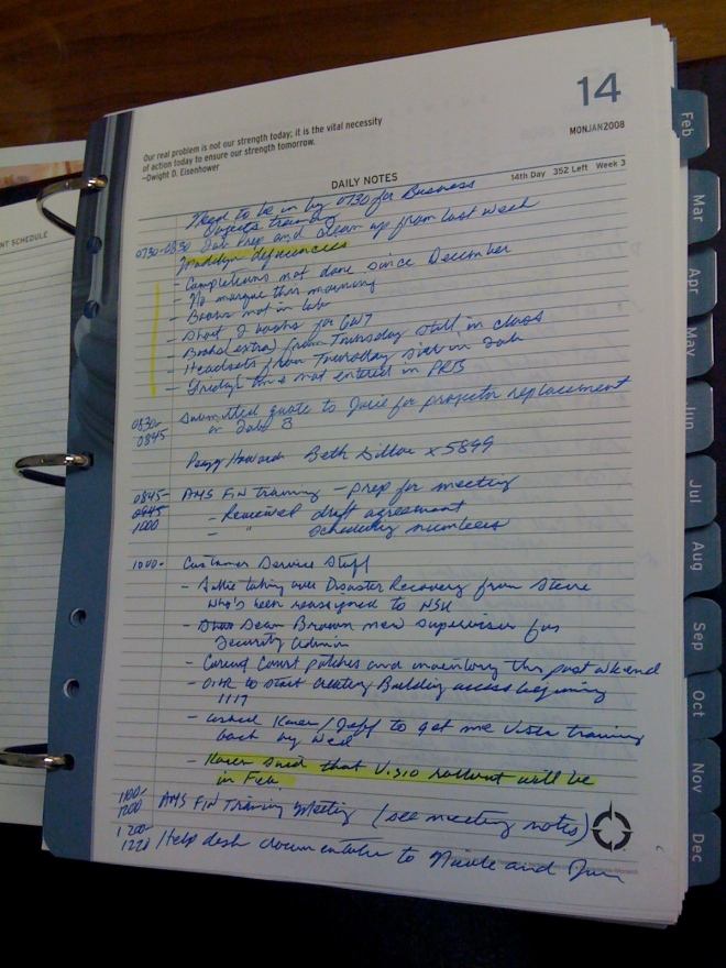 Storing Journal Page in Tabbed 3-Ring Binder