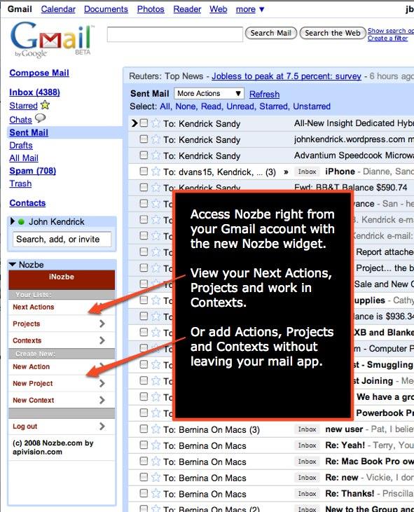 Gmail Google Gadget
