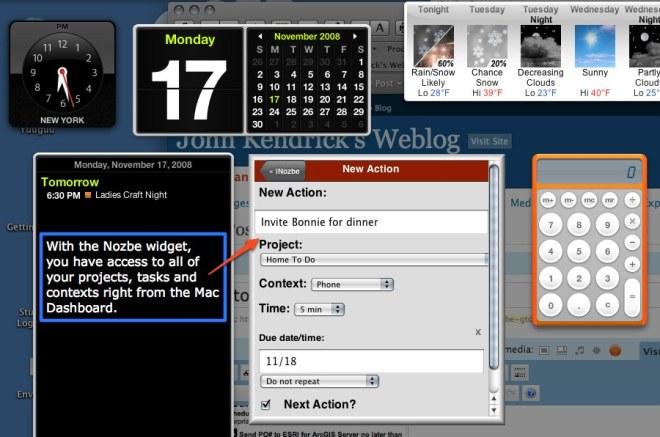 Nozbe Widget for OS X