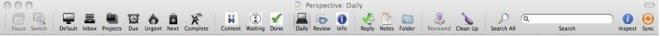 Customized OmniFocus Toolbar