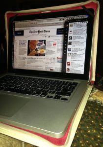 """13"""" MacBook Pro in BookBook case"""